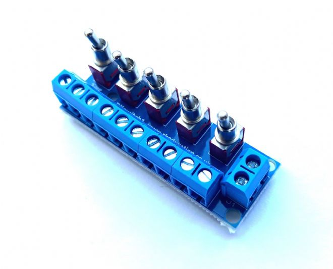 RKswitch1 Toggle Switch Module for Model Railway  - Self Build Kit